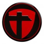 Tomason Nabenkappe Rot auf schwarz
