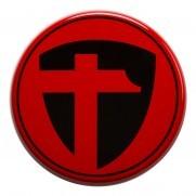 Tomason Nabenkappe Schwarz auf Rot