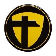 Tomason Nabenkappe Gelb auf schwarz