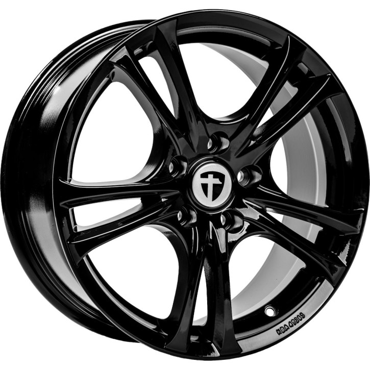 Komplettrad - Tomason, Easy, 7,5x17 ET35 5x100 73,1, black glossy mit Nexen, Winguard Sport 2, 215/40R 17 87V M+S XL