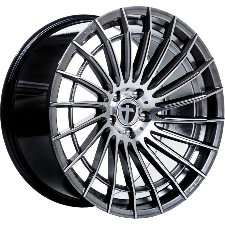 Komplettrad - Tomason, TN21, 8,5x19 ET45 5x112 72,6, dark hyper black polished mit Kumho, WinterCraft WP71, 235/40R 19 92V M+S
