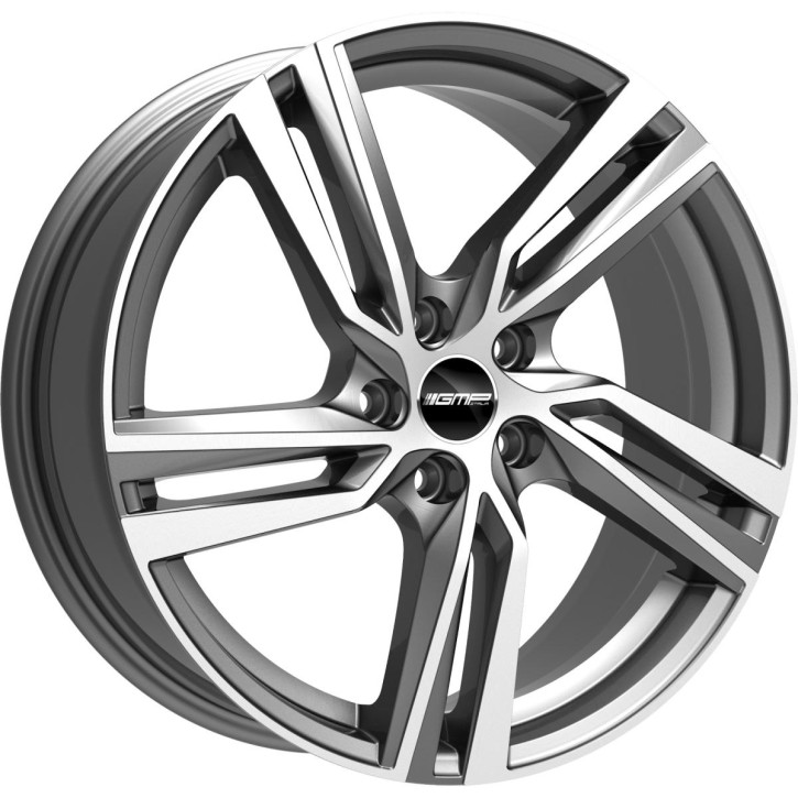 """GMP Italia ARCAN 8,0x17"""" 5x108 ET42 Ø63,4 Anthracite polished"""